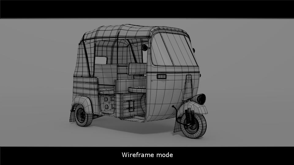 Making an Auto Rickshaw in Blender